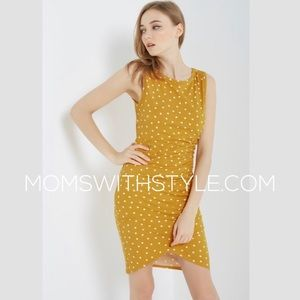 NWT women's Mustard spring dress tulip hem